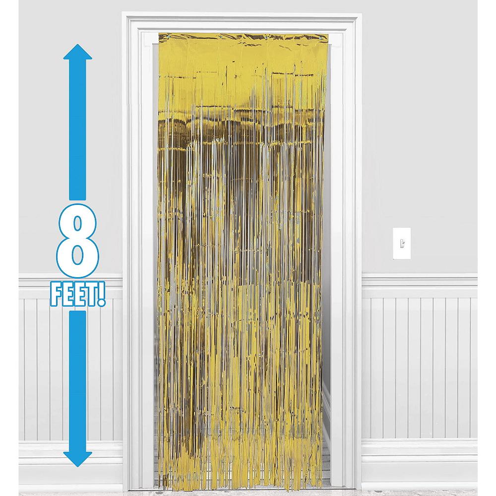 Gold Fringe Doorway Curtain Image #1