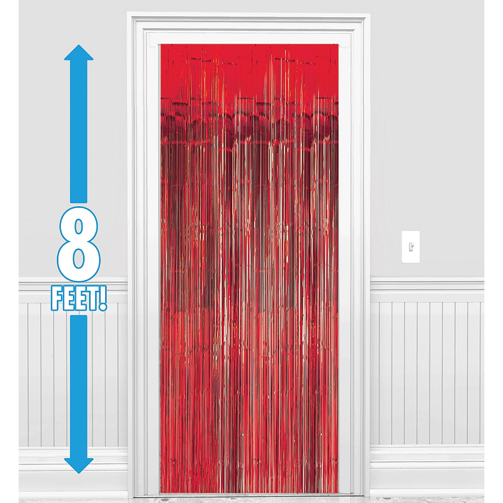 Red Fringe Doorway Curtain Image #1