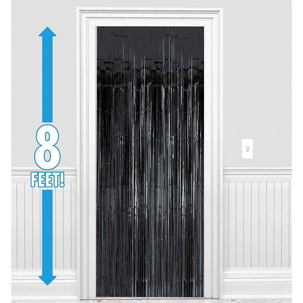 Black Fringe Doorway Curtain Image #1
