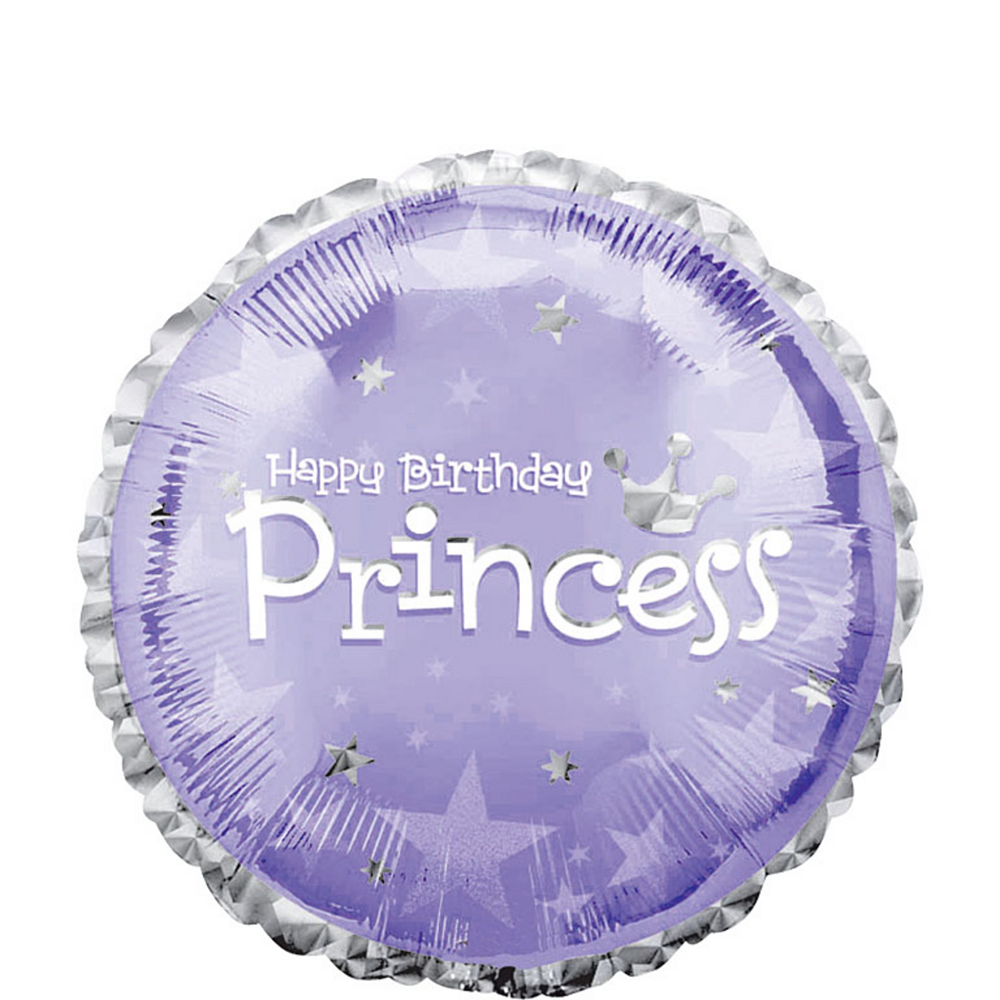 Happy Birthday Balloon - Prismatic Princess, 18in Image #1