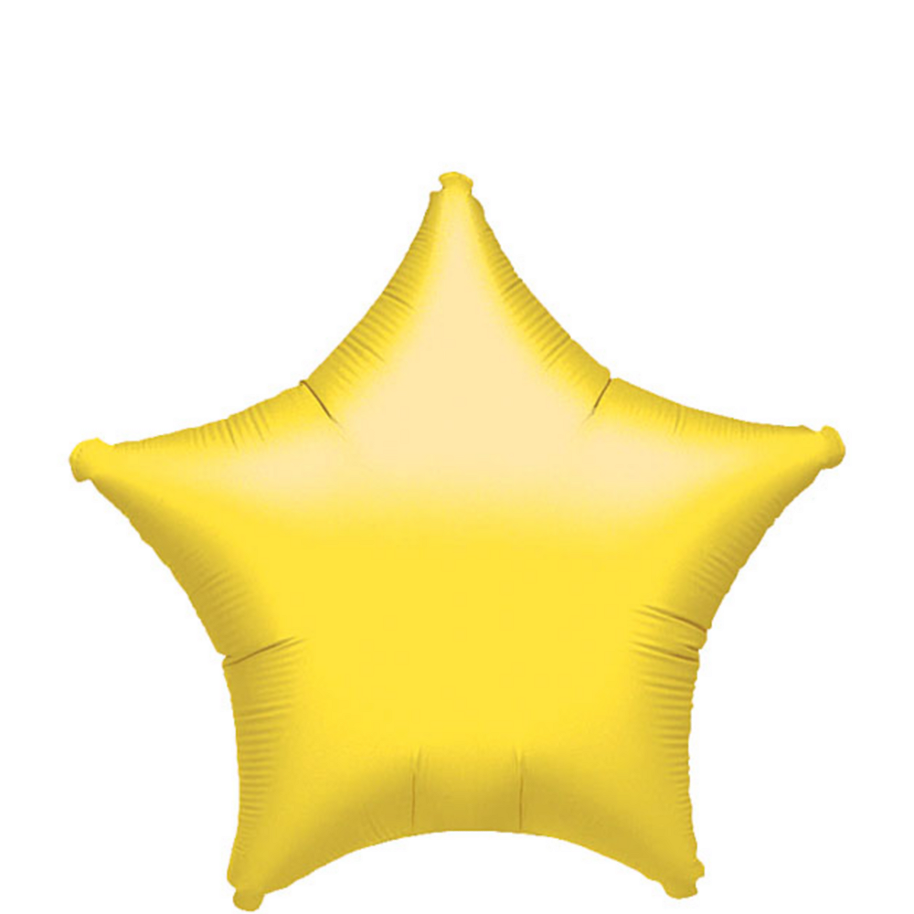 Yellow Star Balloon Image #1
