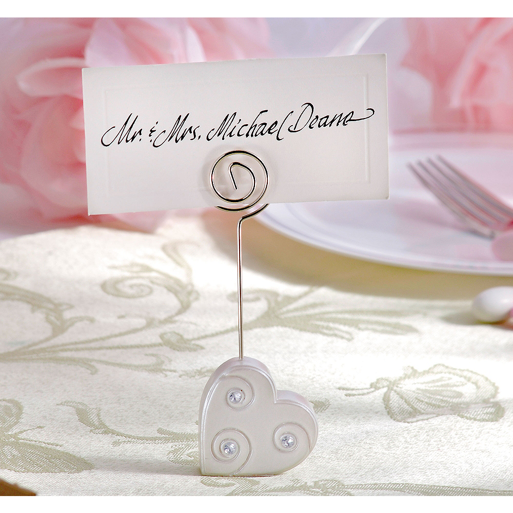 Rhinestone Heart Place Card Holder Image #1