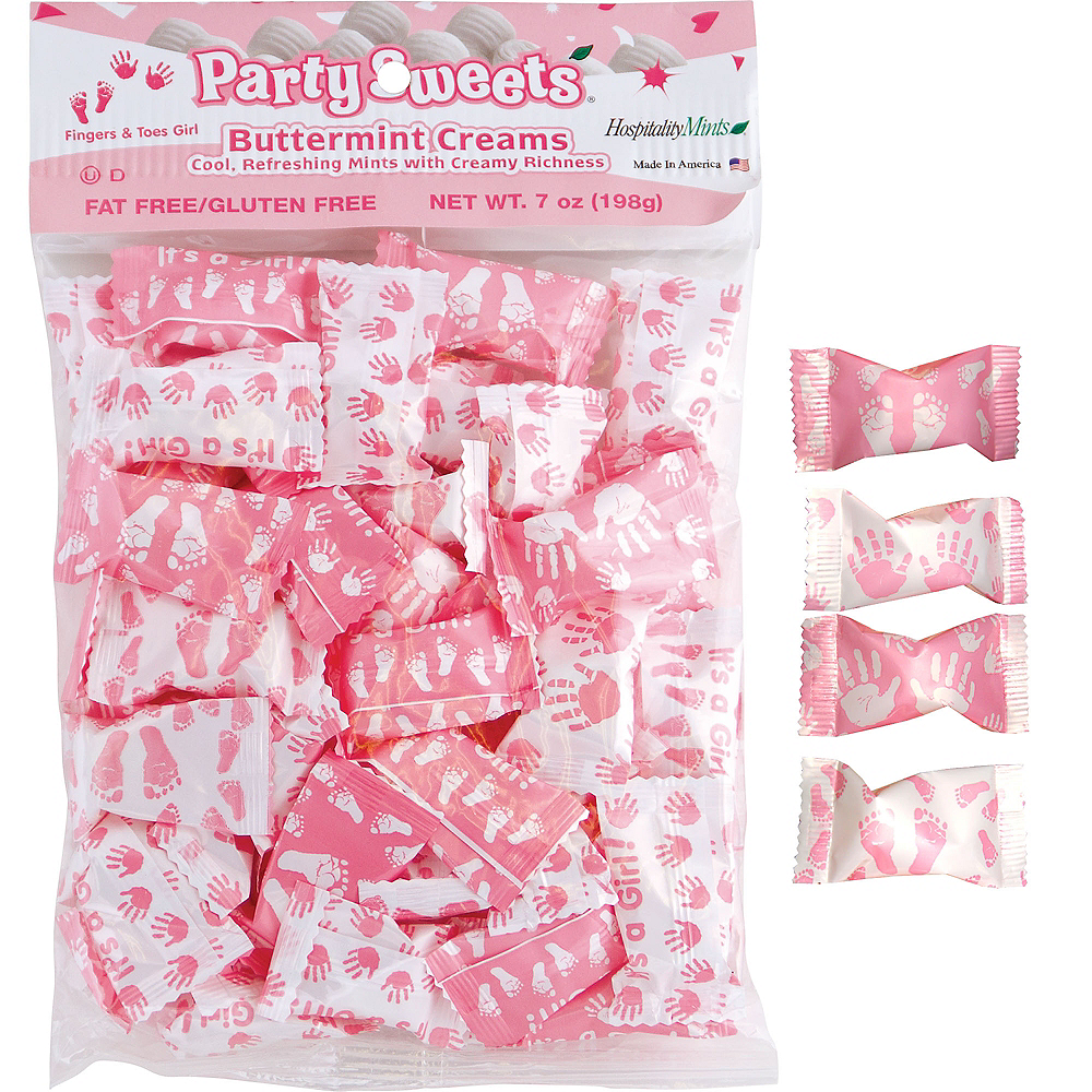It\'s a Girl Baby Shower Pillow Mints 50ct | Party City
