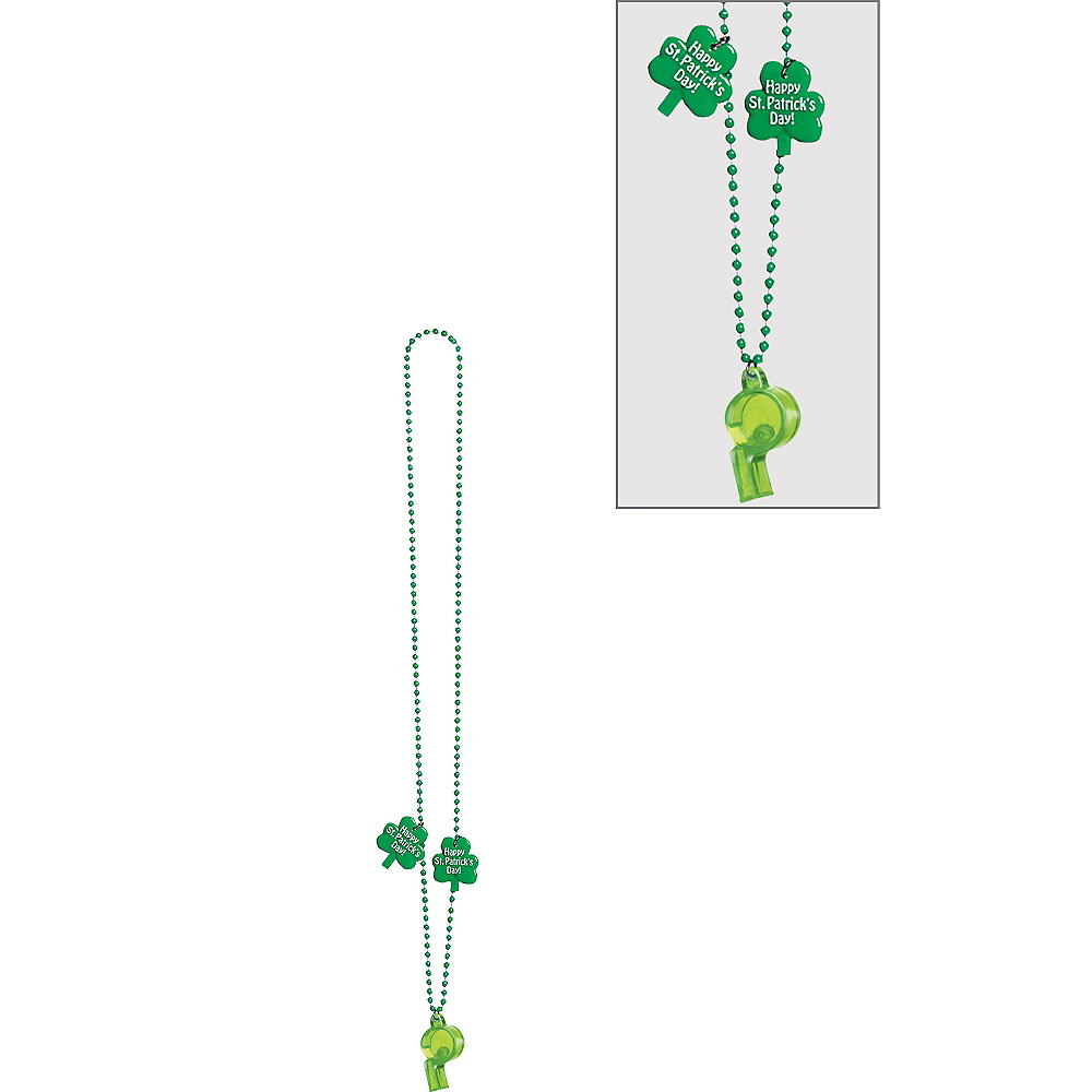 St. Patrick's Day Whistle Necklace Image #1