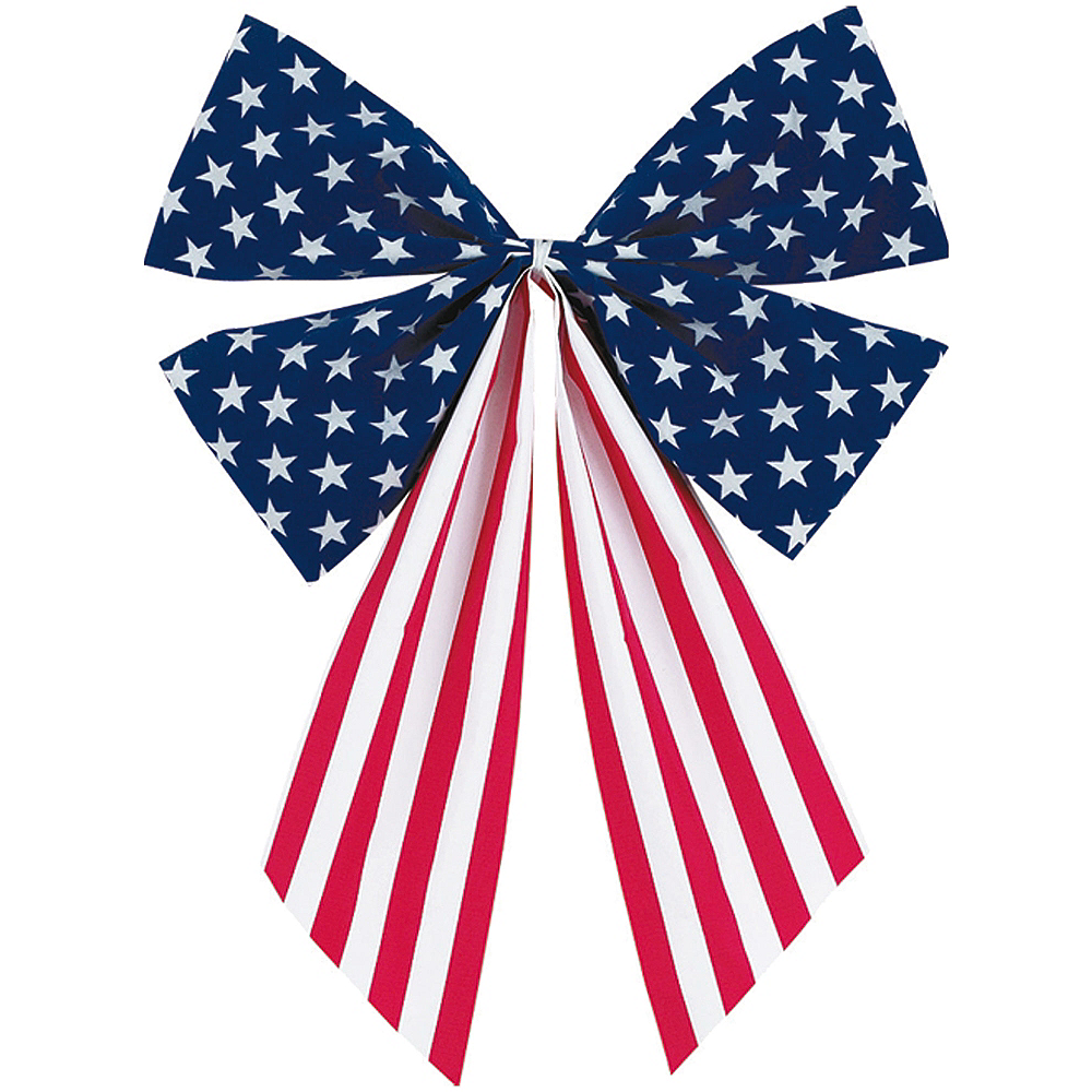 Medium Patriotic American Flag Bow Image #1