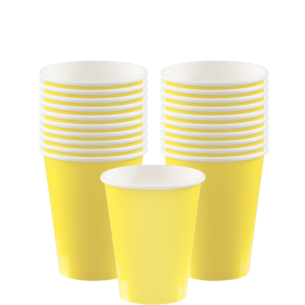 Light Yellow Paper Cups 20ct Image #1