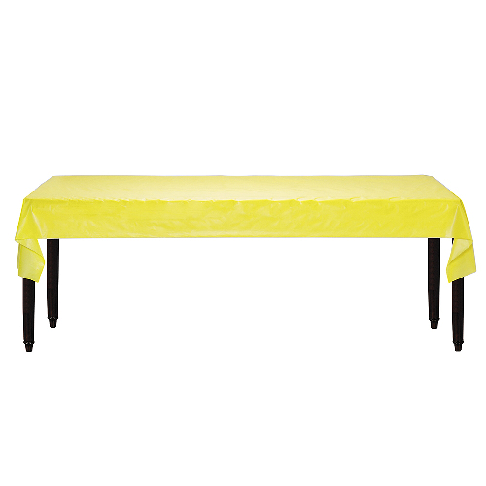 Light Yellow Plastic Table Cover Roll Image #2