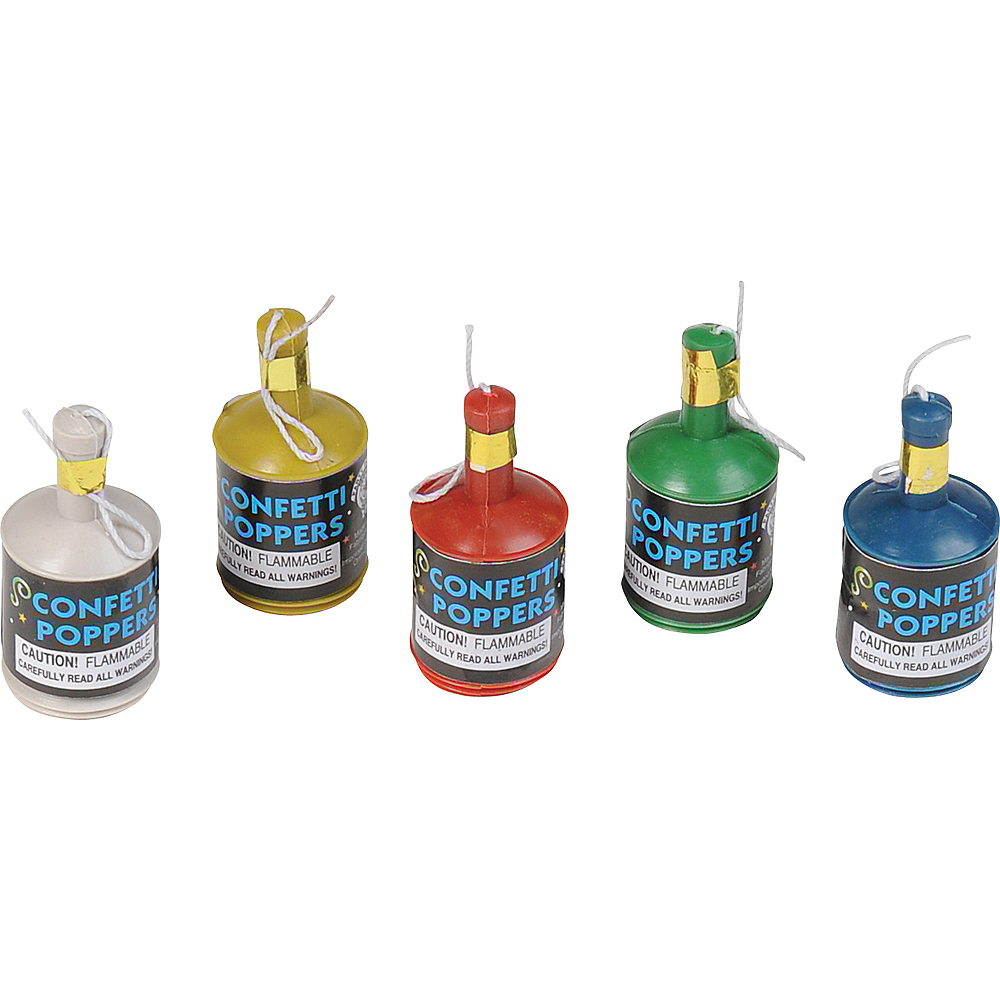 Confetti Party Poppers 12ct Image #2