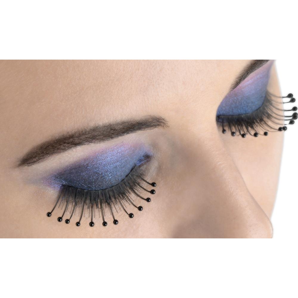 Black Beaded False Eyelashes Image #1