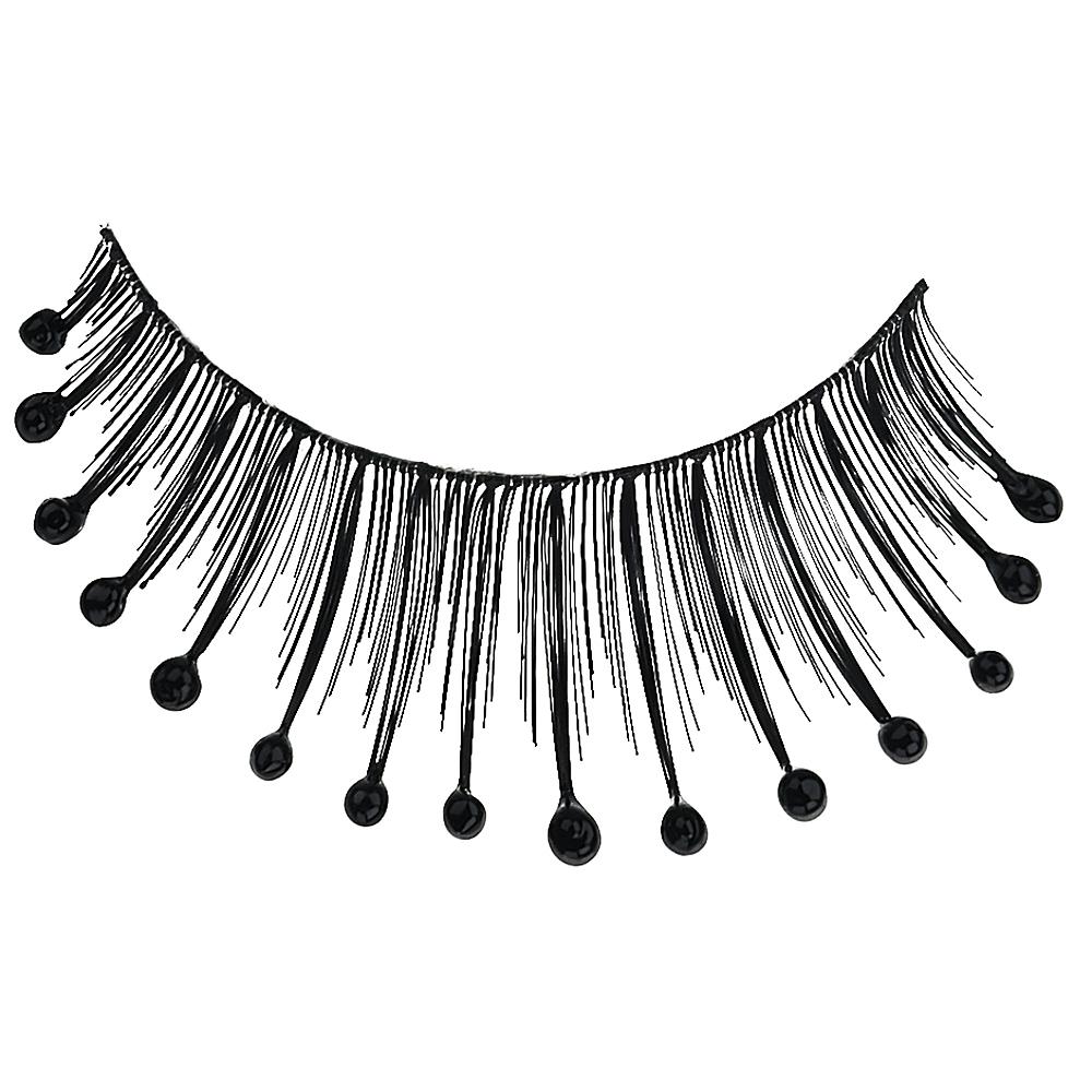 Black Beaded False Eyelashes Image #2