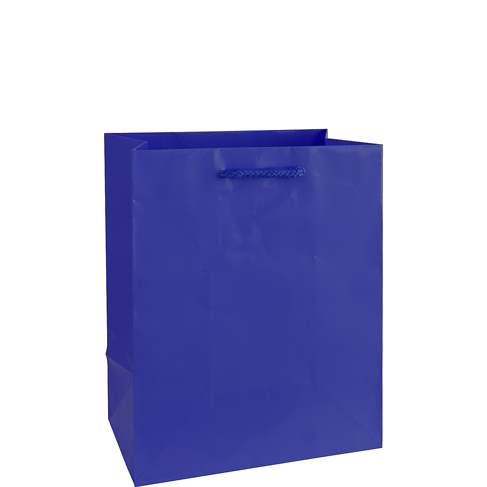 Nav Item for Medium Glossy Royal Blue Gift Bag Image #1