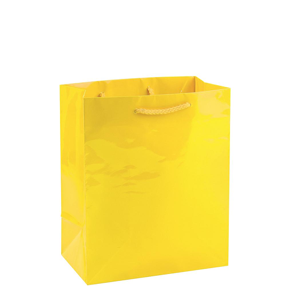 Medium Yellow Paper Gift Bag 8in x 9 1/2in Image #1