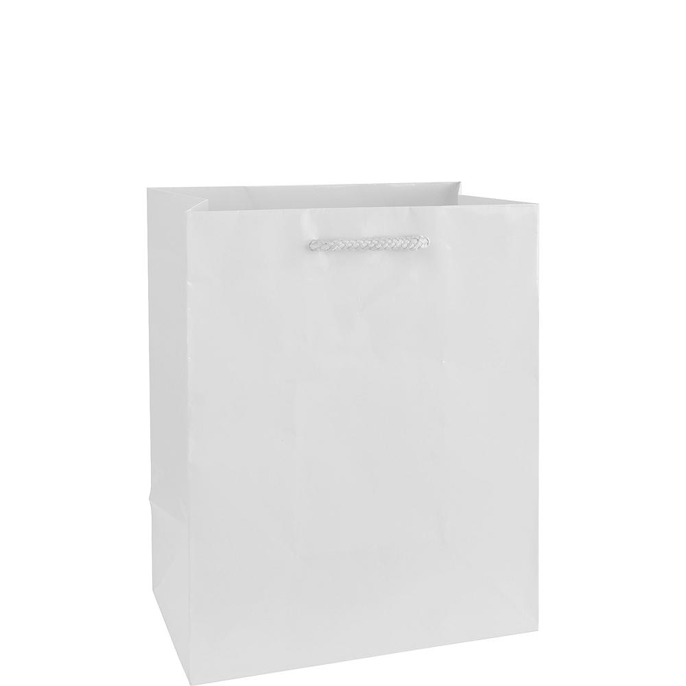 Medium Glossy White Gift Bag Image #1