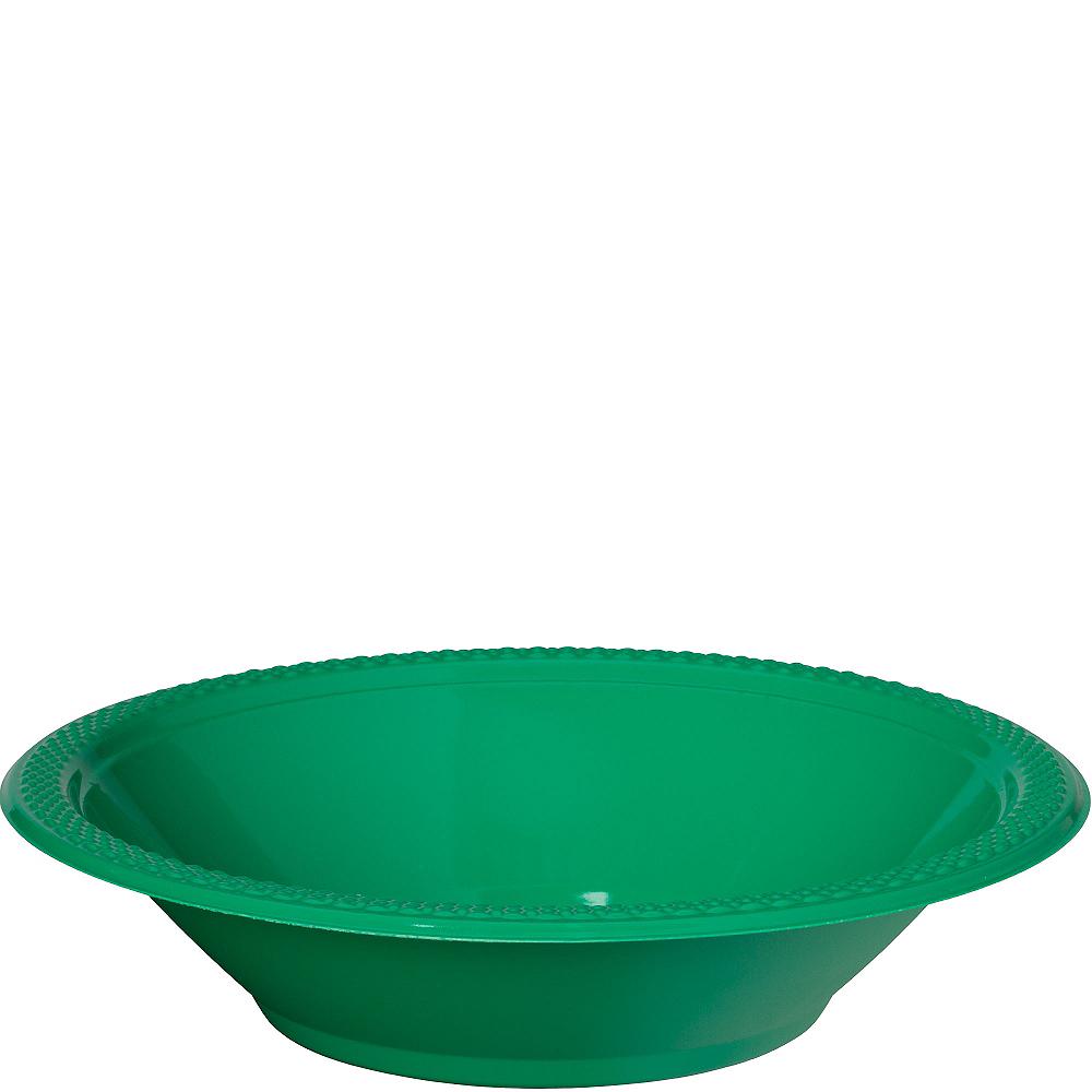 Festive Green Plastic Bowls 20ct Image #1
