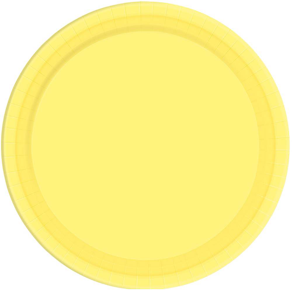Light Yellow Paper Dinner Plates 20ct Image #1