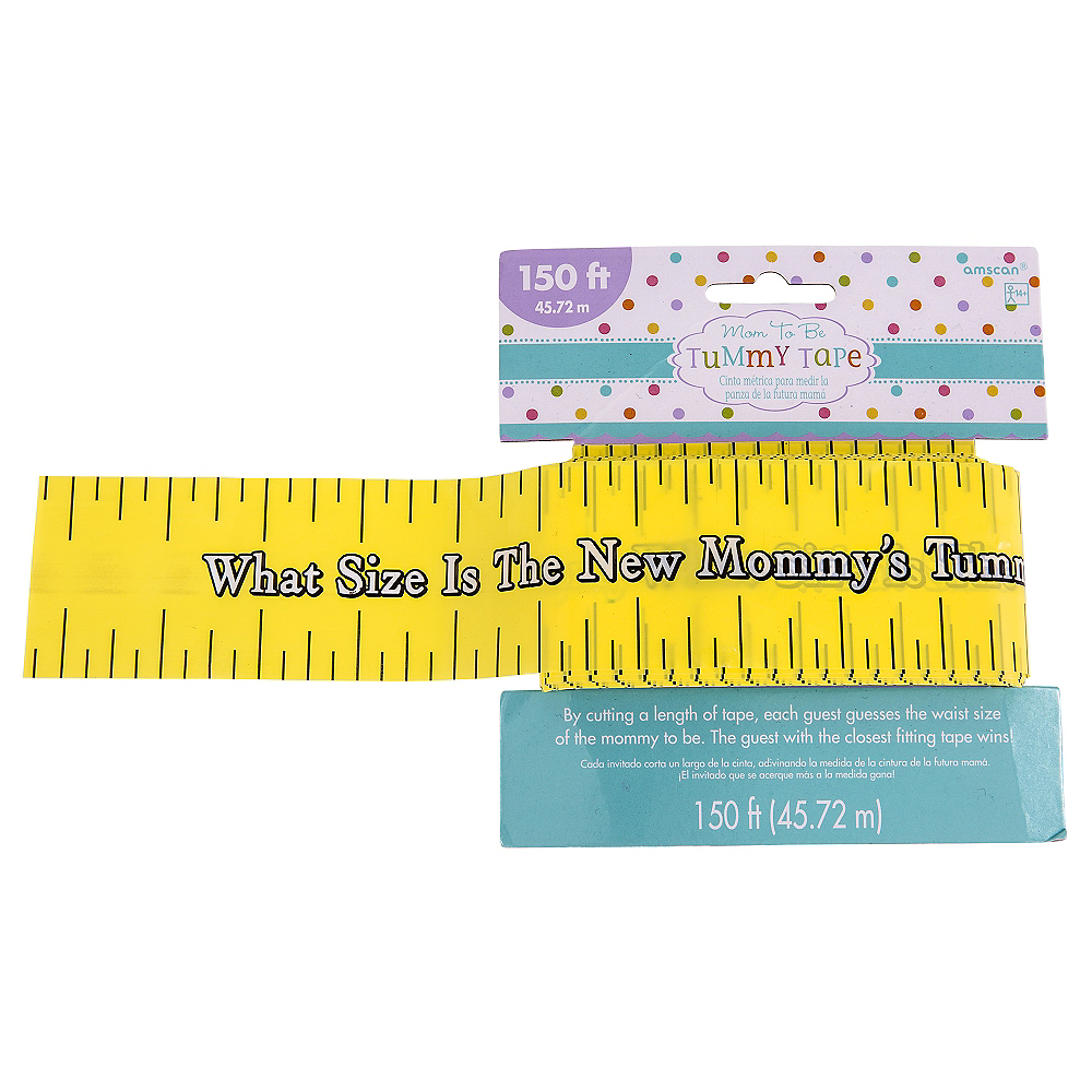 Measuring Tape Game Baby shower Mum to be