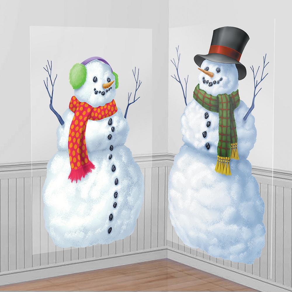 Snowmen Scene Setter 2pc | Party City