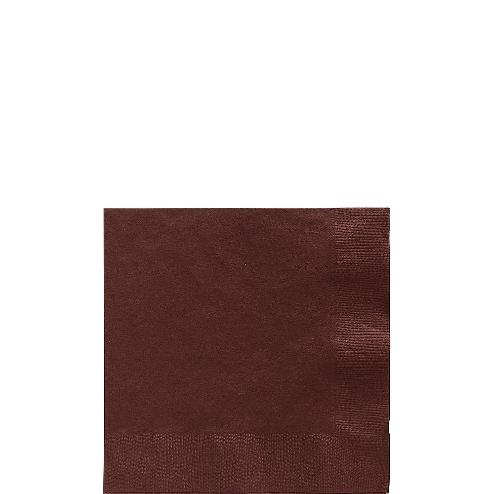 Chocolate Brown Beverage Napkins 50ct Image #1