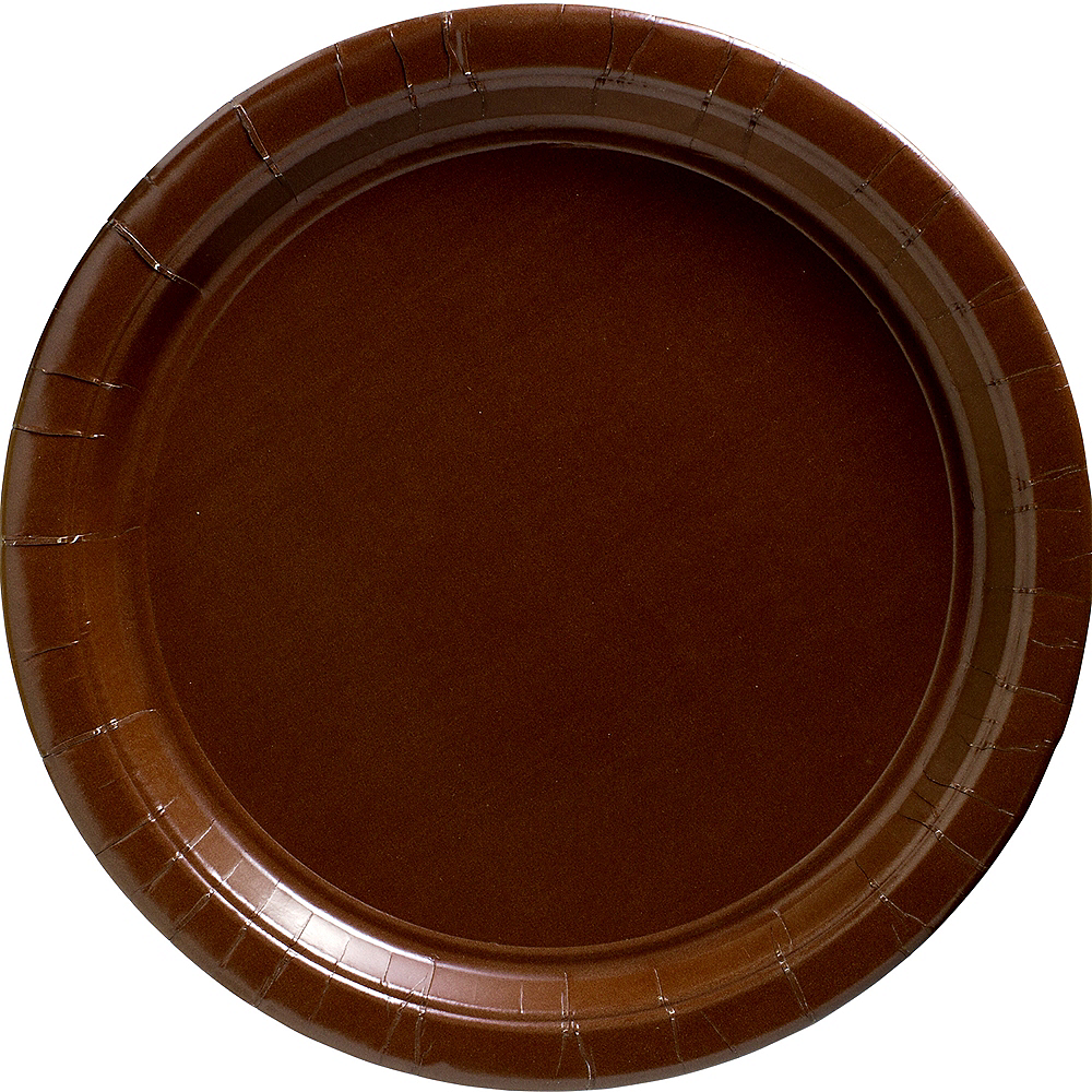 Chocolate Brown Paper Dinner Plates 20ct Image #1