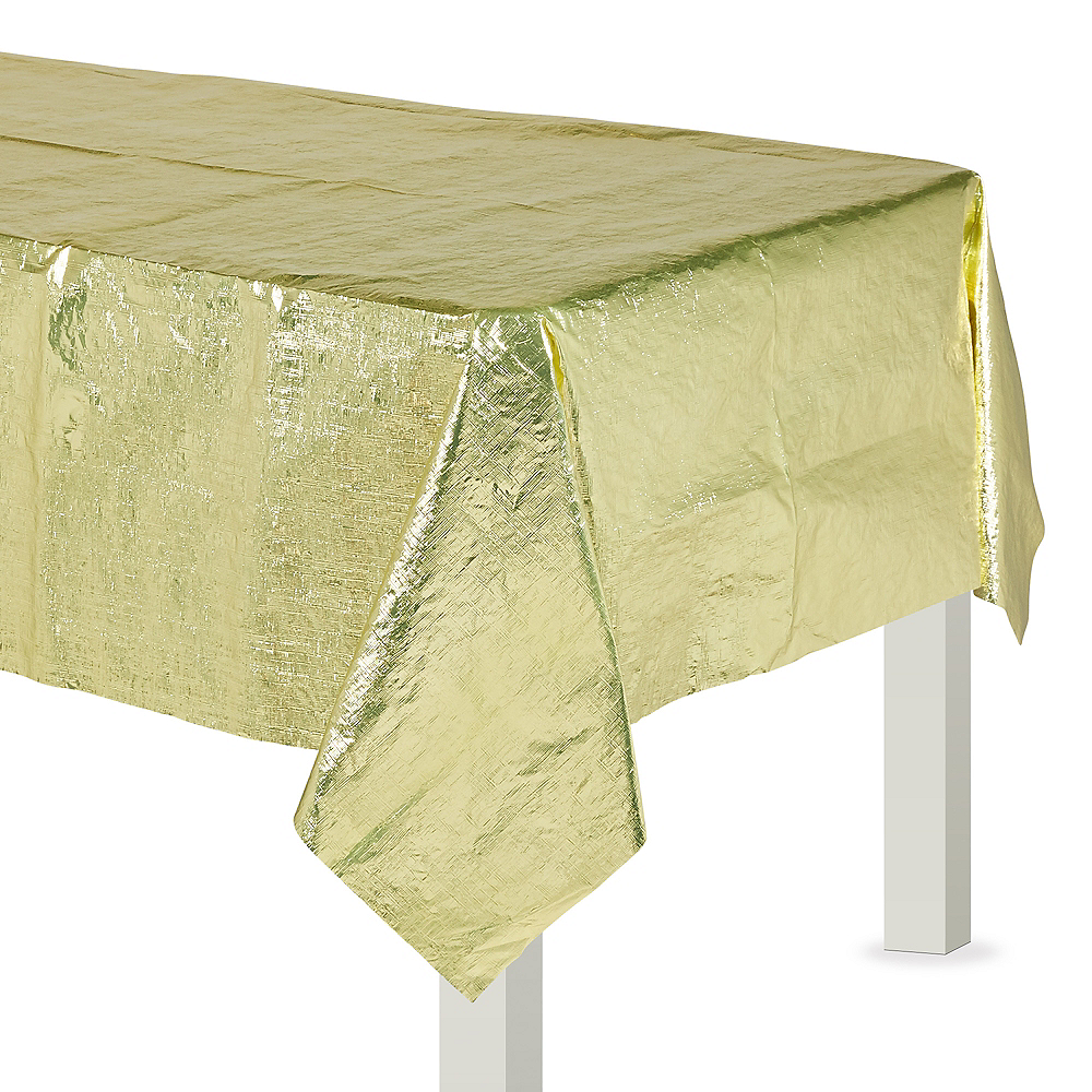 Gold Metallic Table Cover Image #1