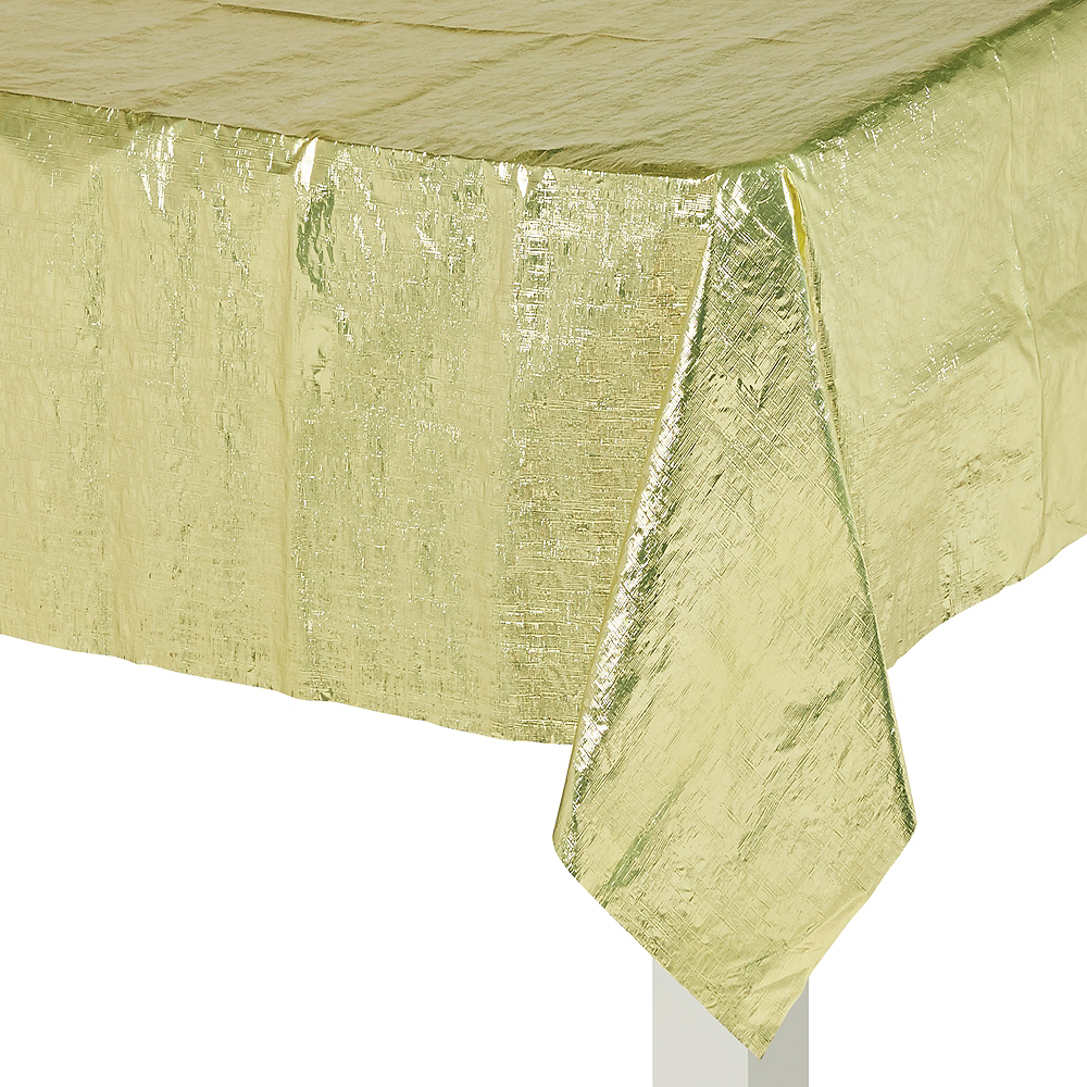 Gold Metallic Table Cover Image #2