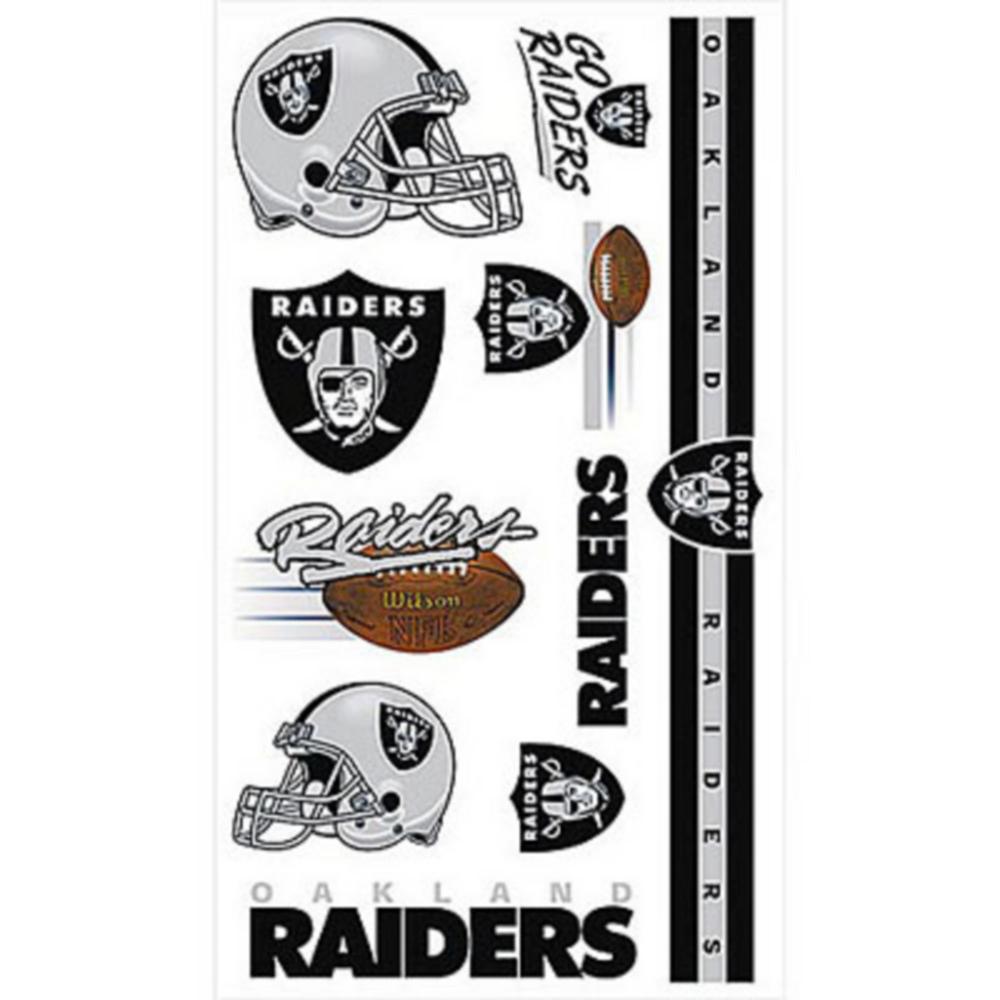 Oakland Raiders Tattoos 10ct Image #1