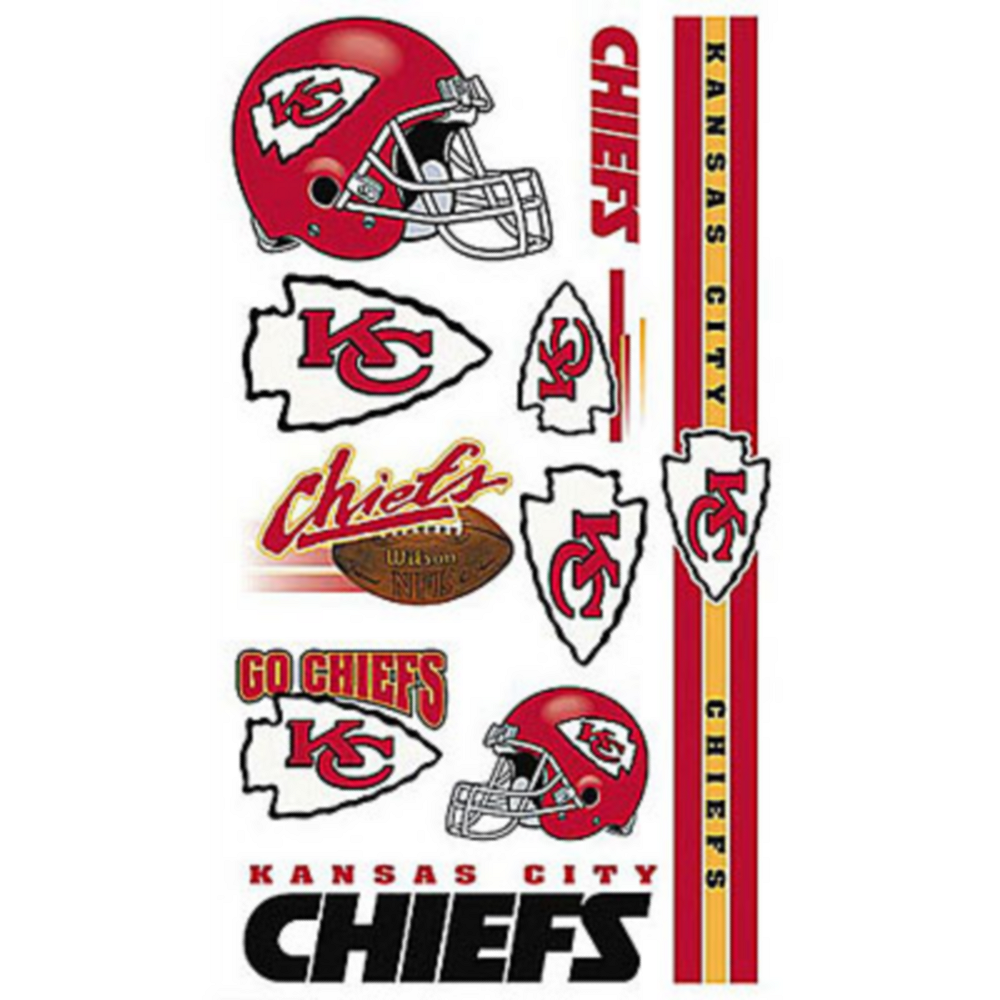 Kansas City Chiefs Tattoos 10ct Image #1