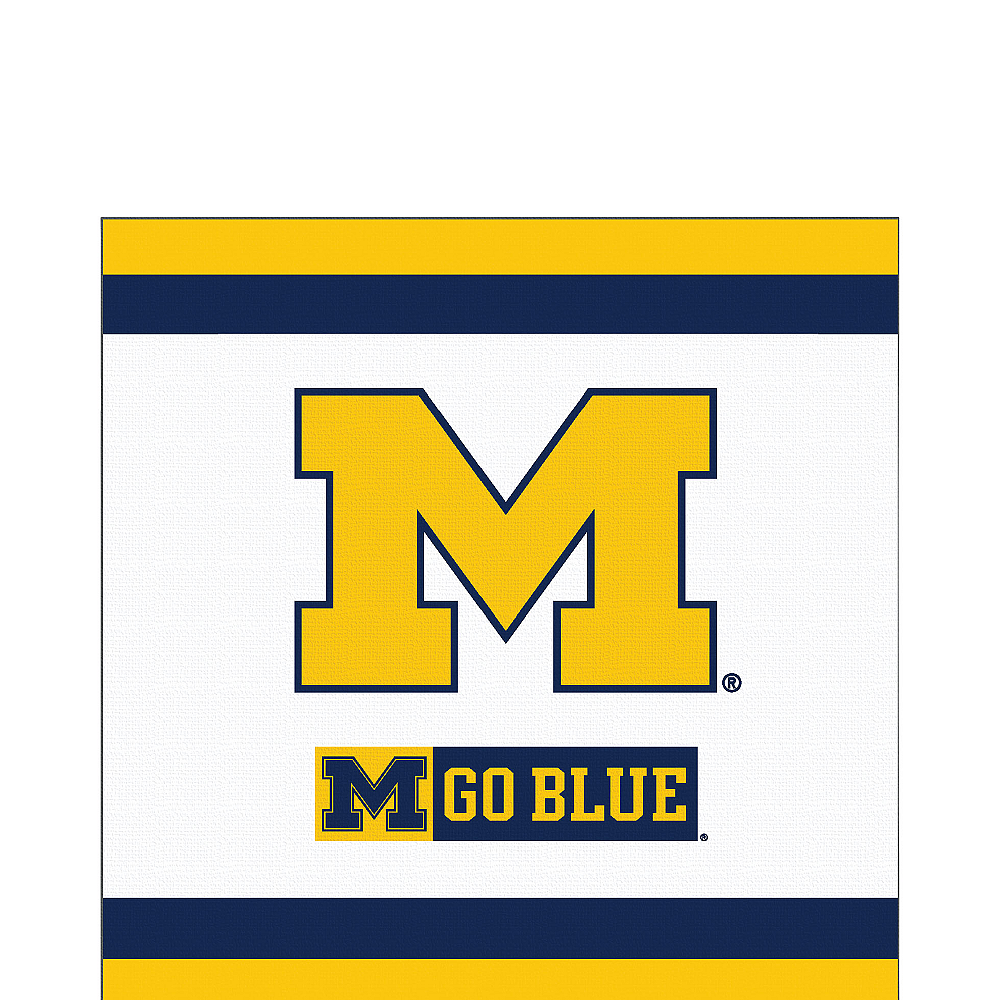 Nav Item for Michigan Wolverines Lunch Napkins 20ct Image #1