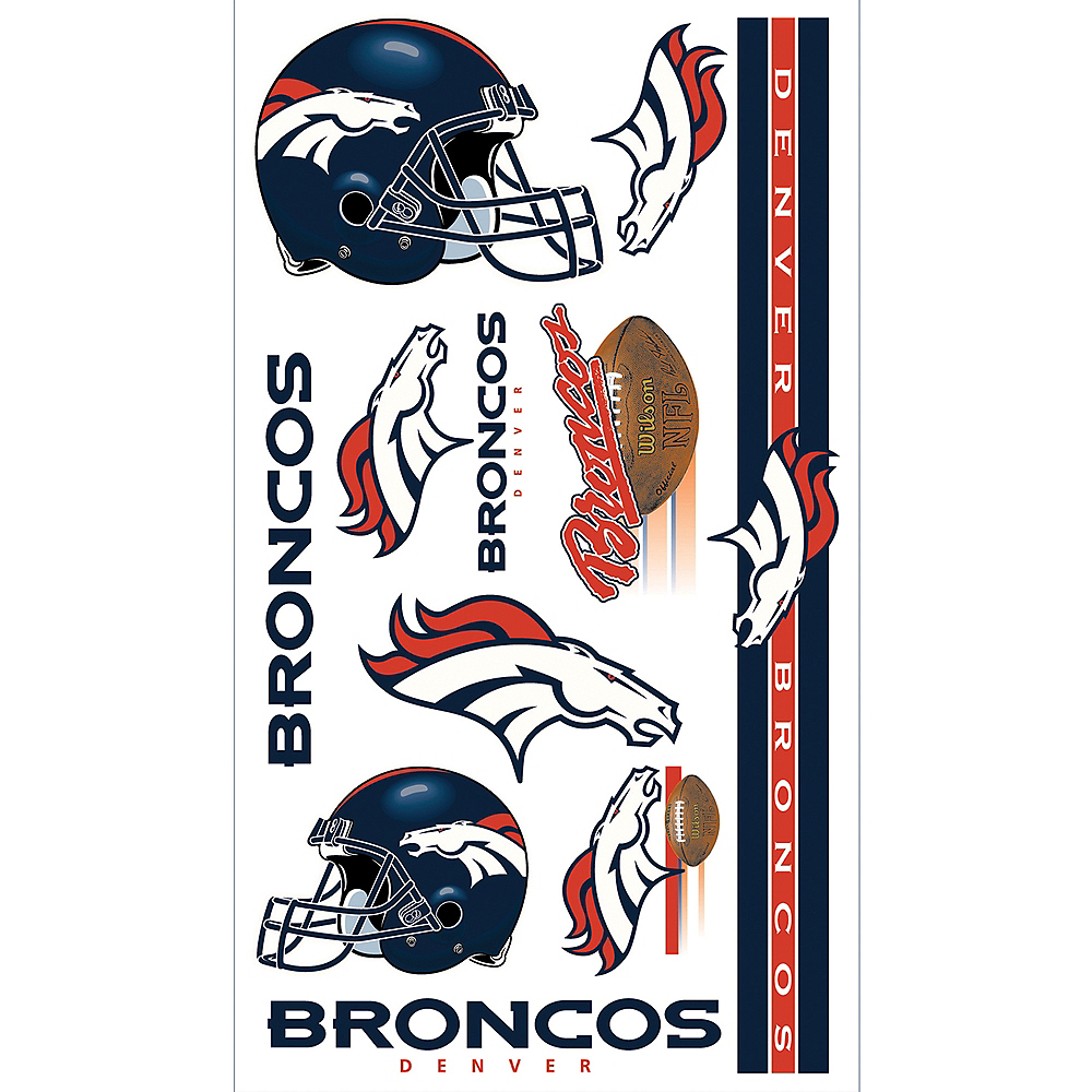 Denver Broncos Tattoos 10ct Image #1