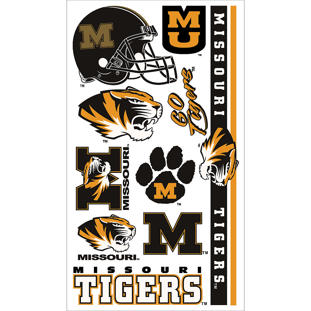 watch 23bf6 5afdb Missouri Tigers Tattoos 10ct Image  1
