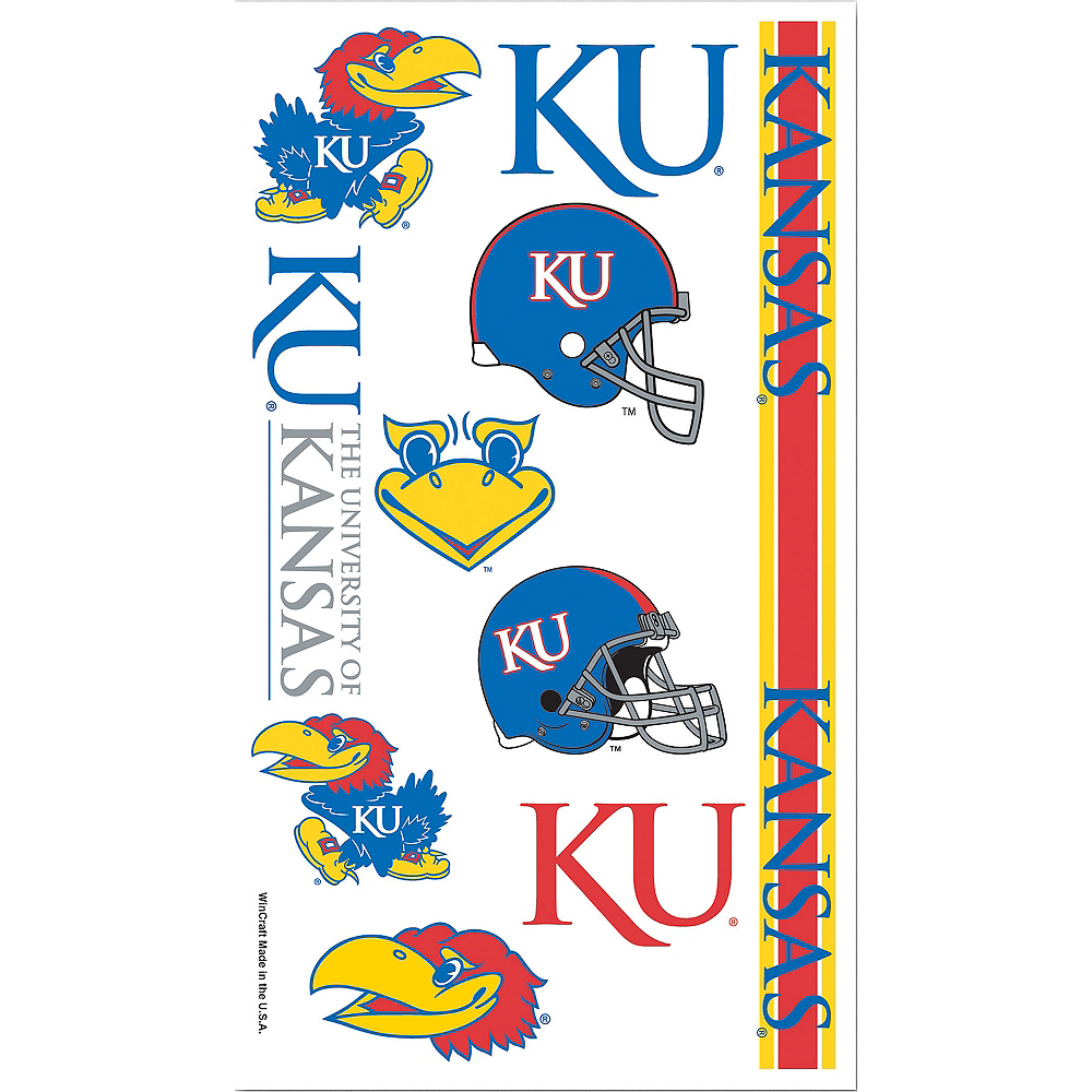 Kansas Jayhawks Tattoos 10ct Image #1