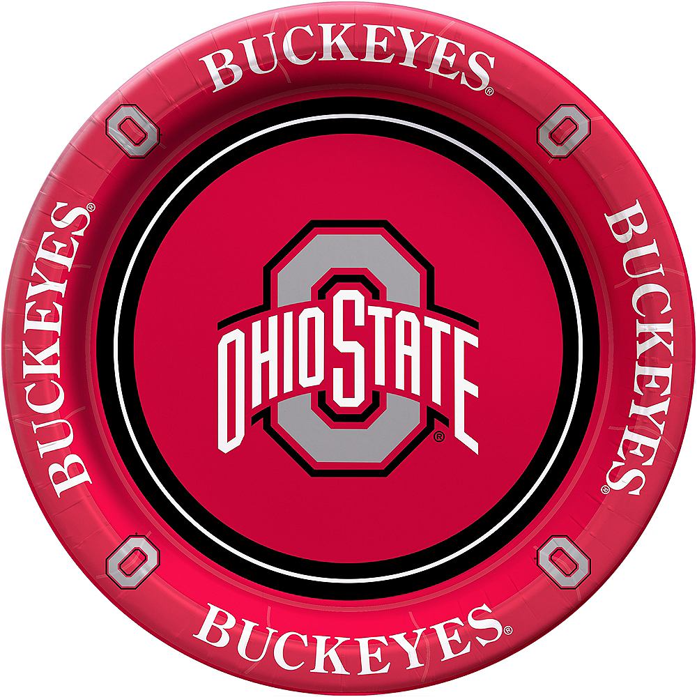 Ohio State Buckeyes Lunch Plates 8ct Image #1