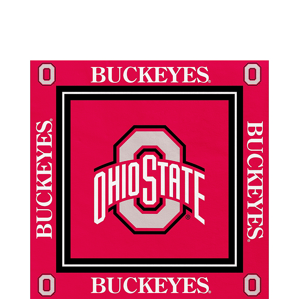 Ohio State Buckeyes Lunch Napkins 16ct Image #1