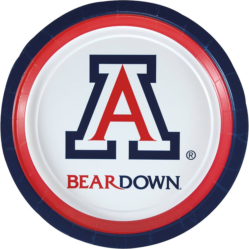 Nav Item for Arizona Wildcats Lunch Plates 8ct Image #1