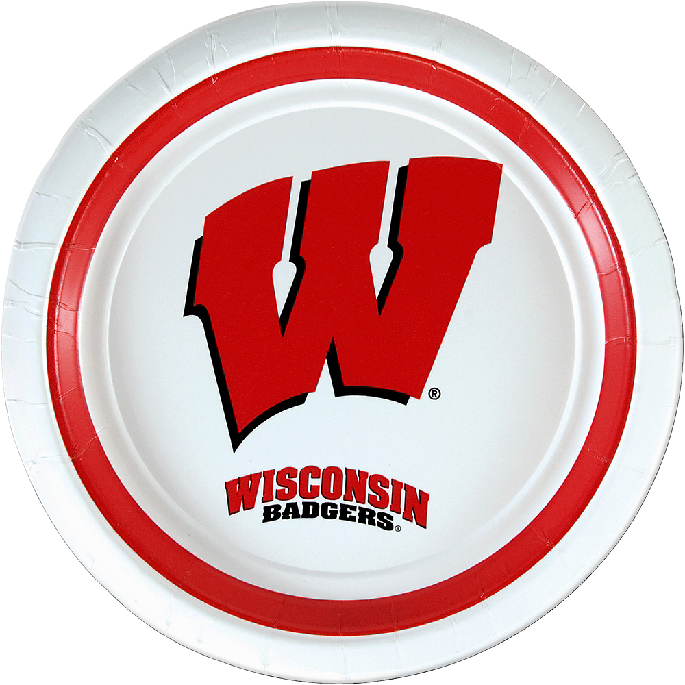 Wisconsin Badgers Lunch Plates 10ct Image #1