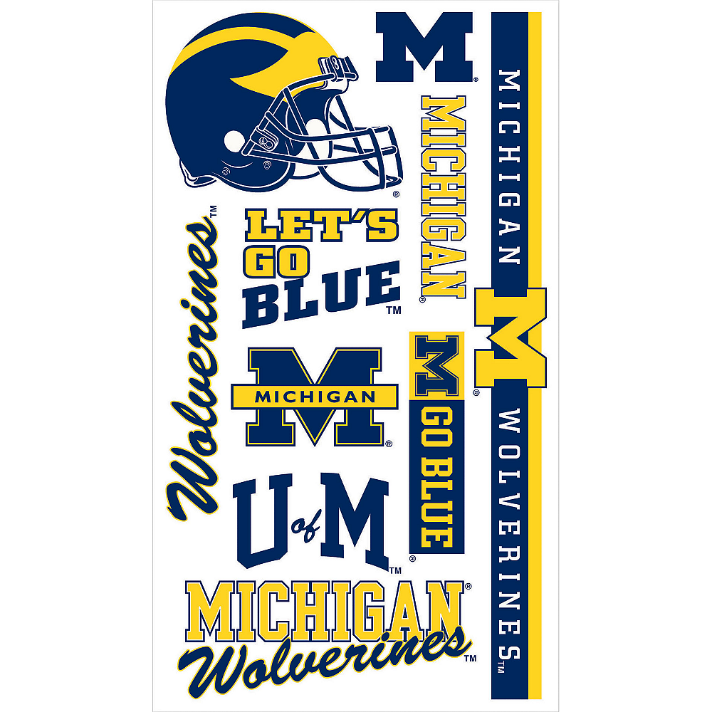 Nav Item for Michigan Wolverines Tattoos 10ct Image #1