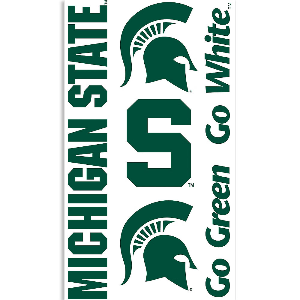Michigan State Spartans Tattoos 7ct Image #1