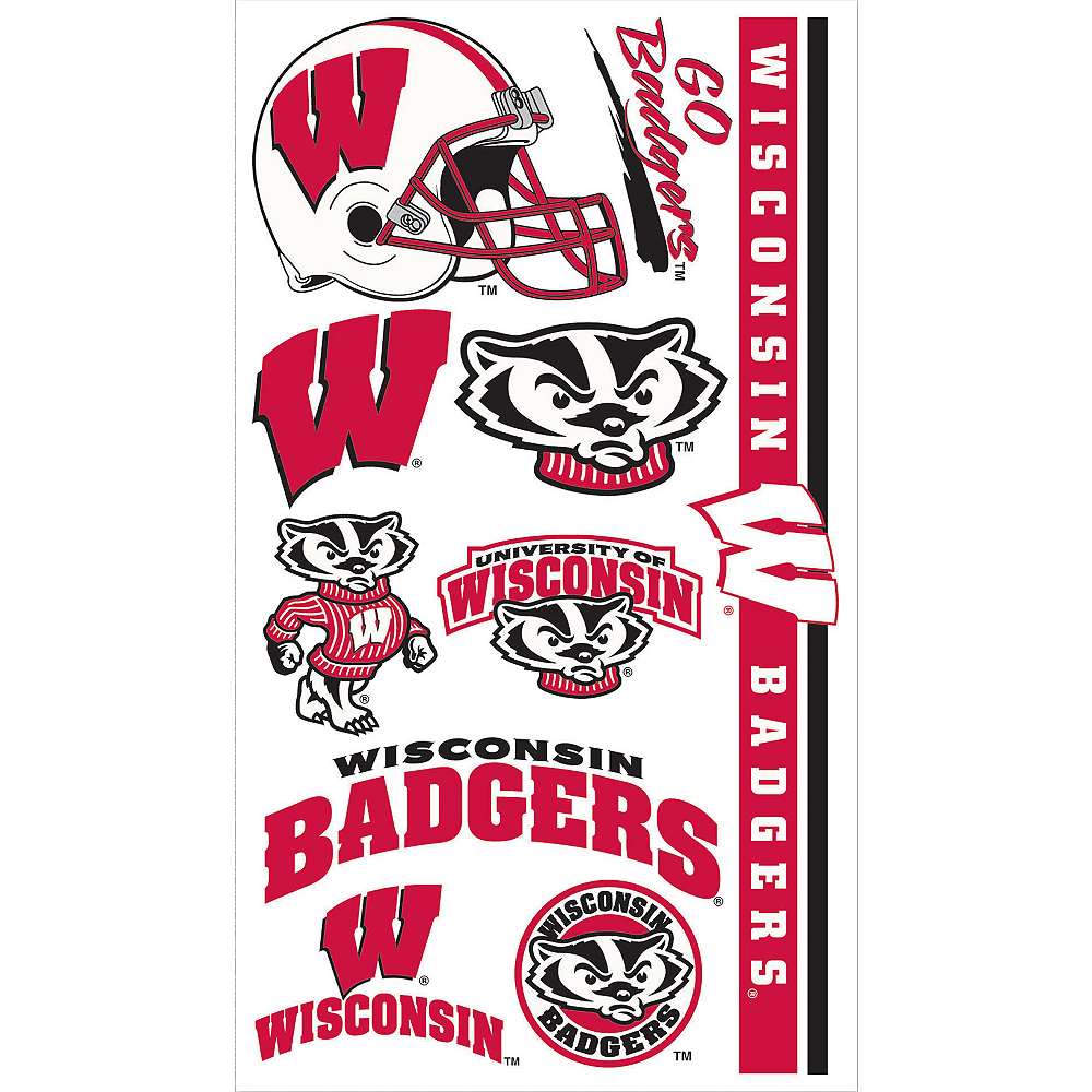 Wisconsin Badgers Tattoos 10ct Image #1