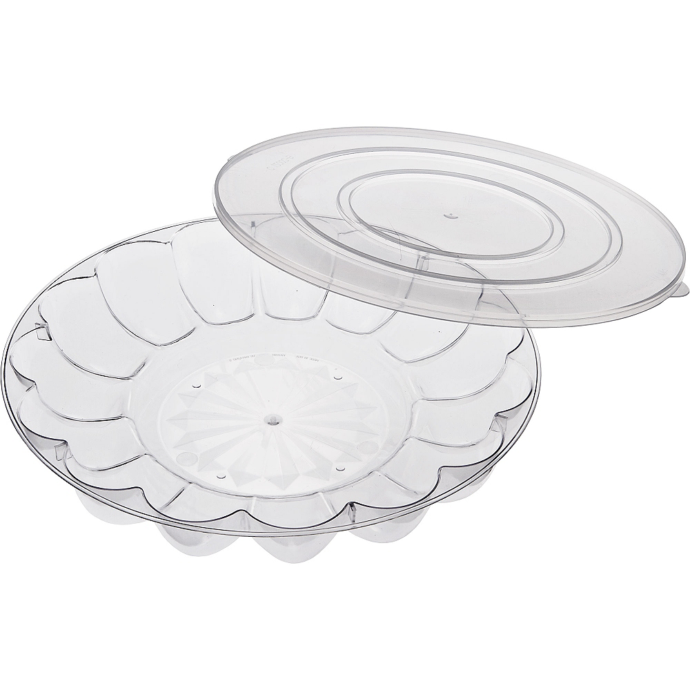 CLEAR Plastic Egg Tray with Lid Image #2