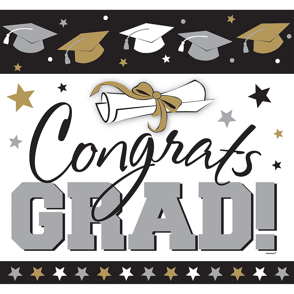 Nav Item for Glitter Golden Grad Graduation Cutout Image #1