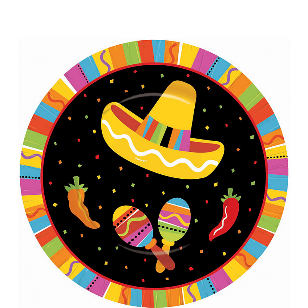 Nav Item for Bright Fiesta Dessert Plates 8ct Image #1