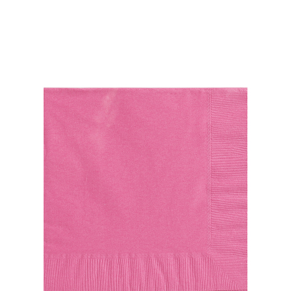 Bright Pink Beverage Napkins 50ct Image #1