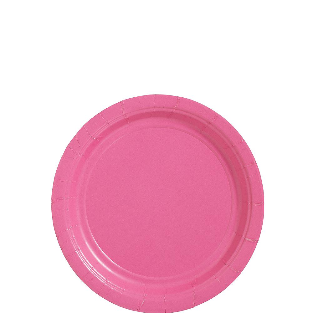 Bright Pink Paper Dessert Plates 20ct Image #1
