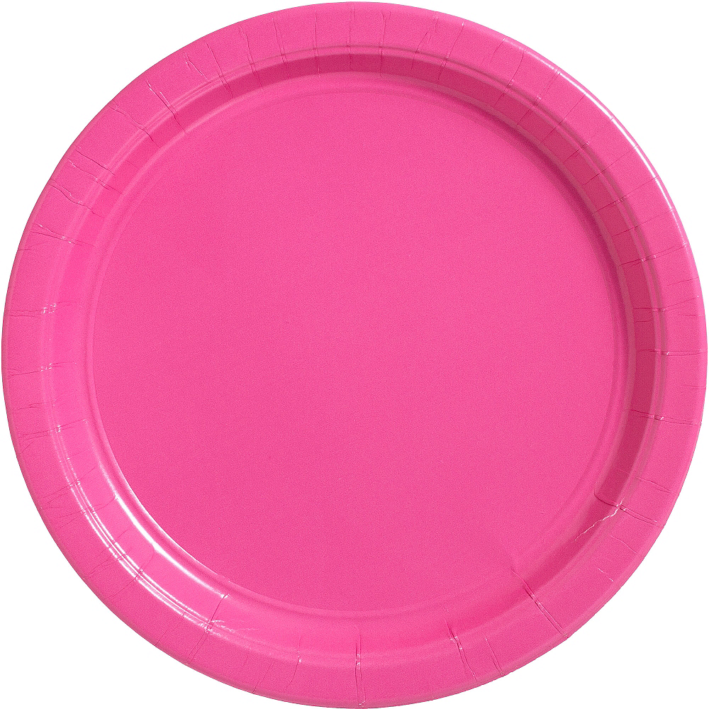 Bright Pink Paper Dinner Plates 20ct Image #1