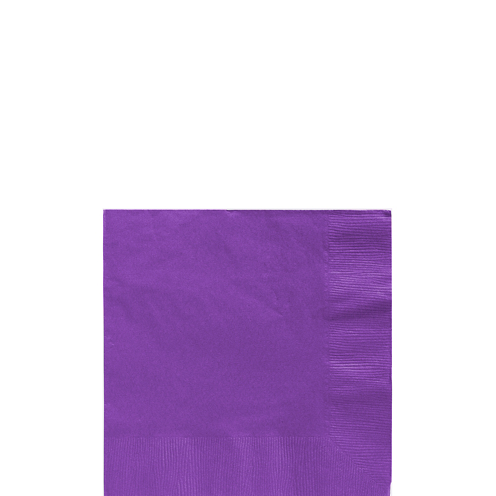 Purple Beverage Napkins 50ct Image #1