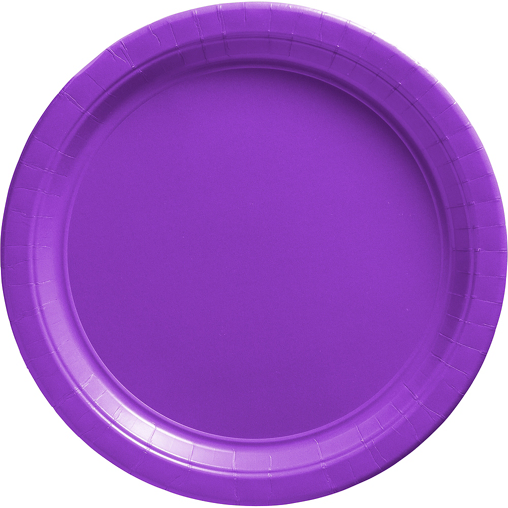 Purple Paper Dinner Plates 20ct Image #1