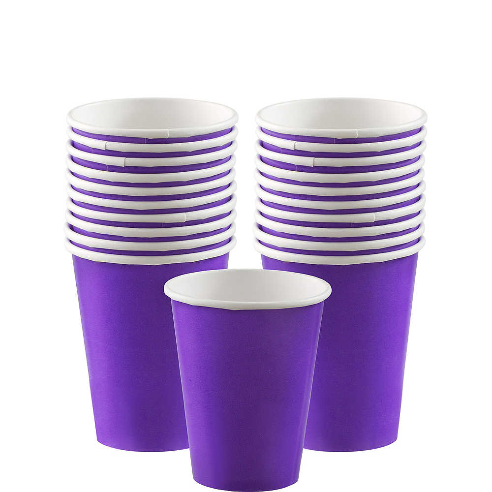 Purple Paper Cups 20ct Image #1