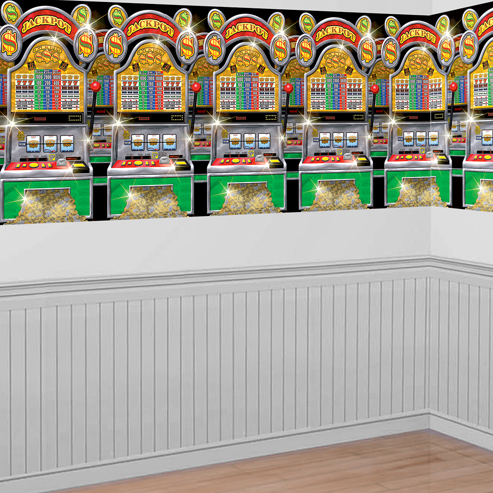 Casino Slot Machines Room Roll 40ft x 4ft | Party City