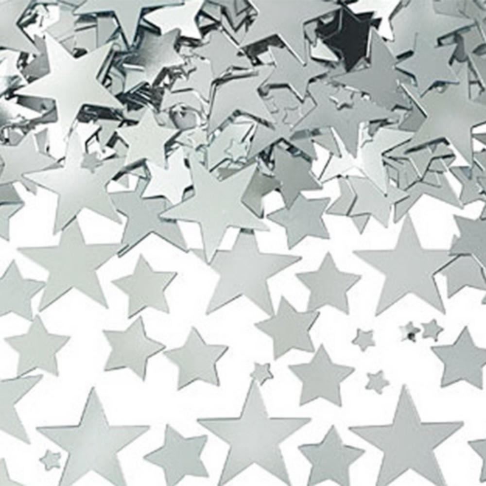 Silver Star Confetti Image #1