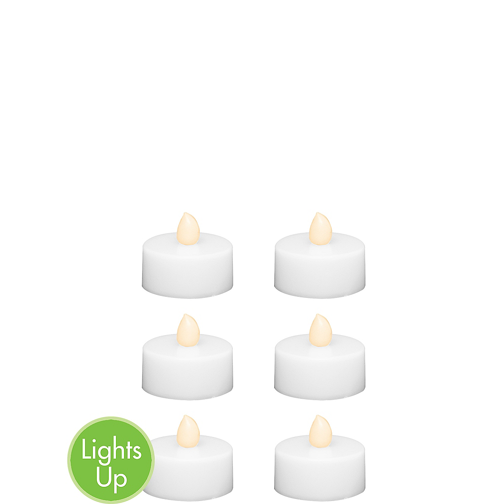 White Tealight Flameless LED Candles 6ct Image #1